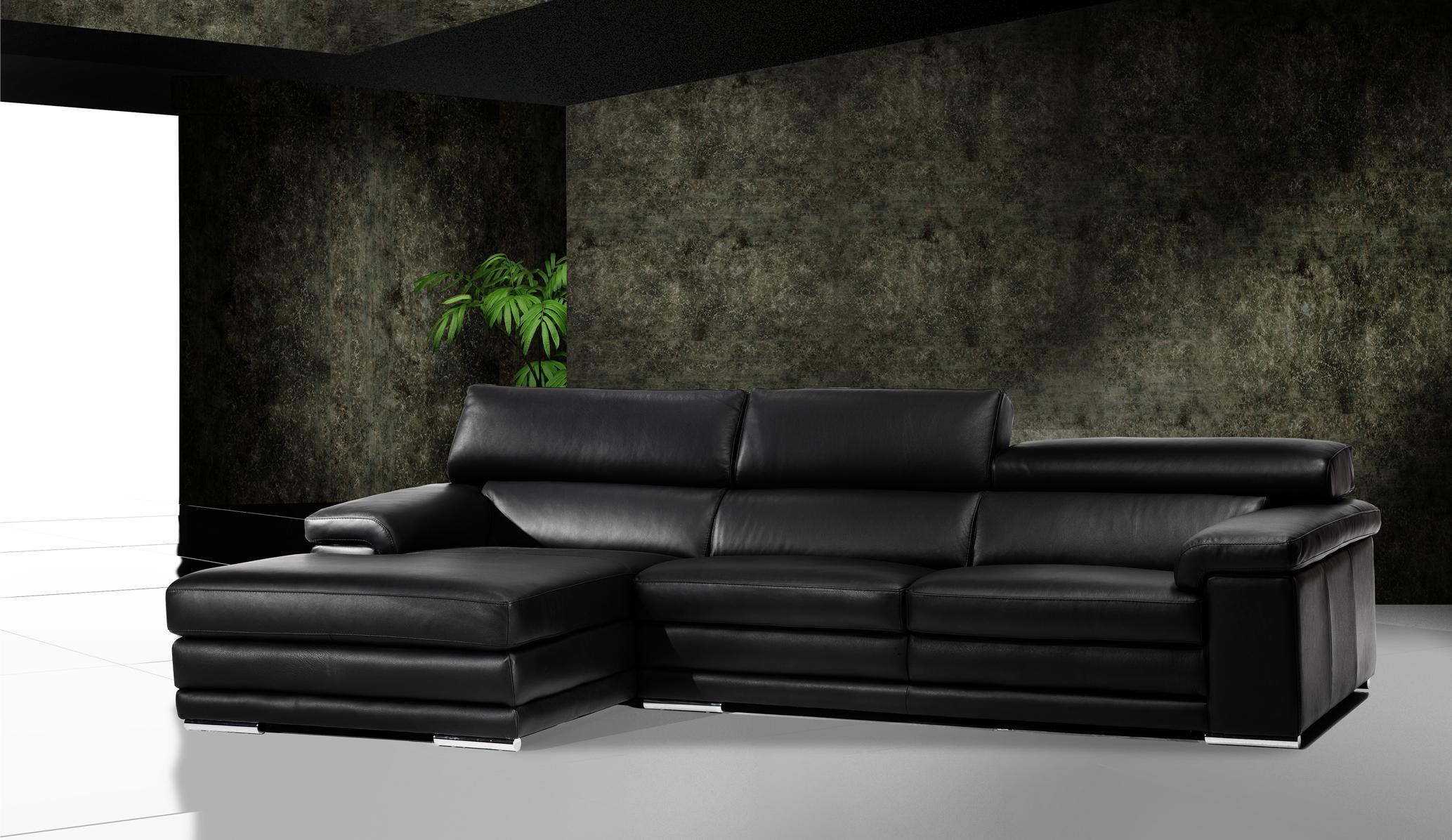 Sofas de piel de diseo top modelo akora en piel con pata - Modelos de sofas de piel ...