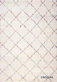 Alfombra de lana con poliester, tacto muy suave, dibujos geométricos.