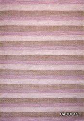 Alfombra de lana con rayas de colores difuminados